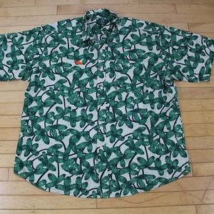 Orvis Leaves Print Button Down Shirt Size XXL